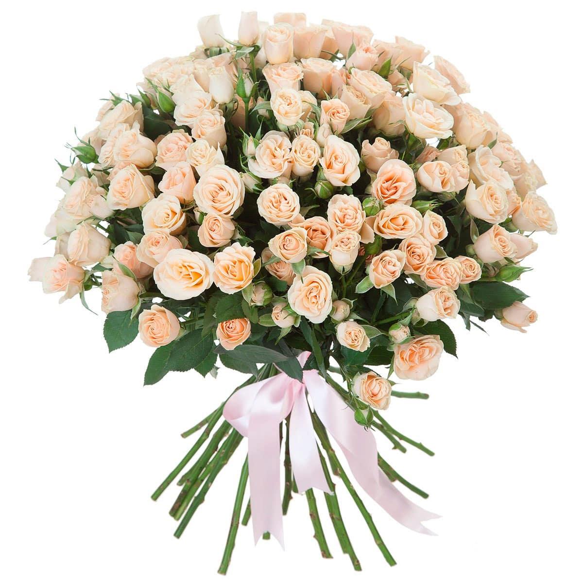 Букет из маленьких роз фото