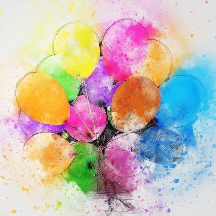 Гелевые шары и сладости