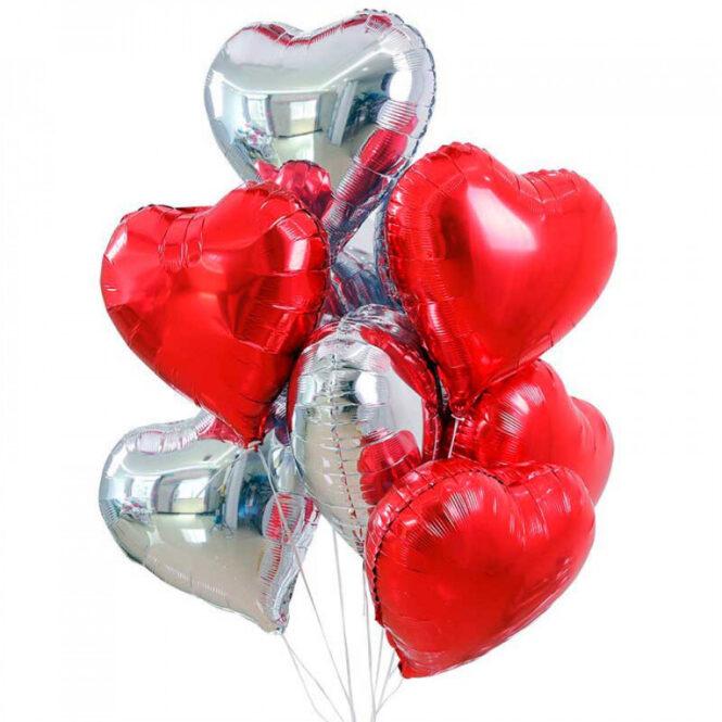 Шар гелевый фольгированный 1шт сердце